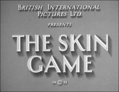 Hitchcock Journey - The Skin Game (1931)