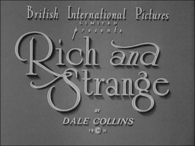 Hitchcock Journey - Rich and Strange (1931)